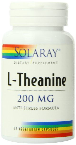 Solaray L-Theanine Supplement, 200 mg, 45 Count  f