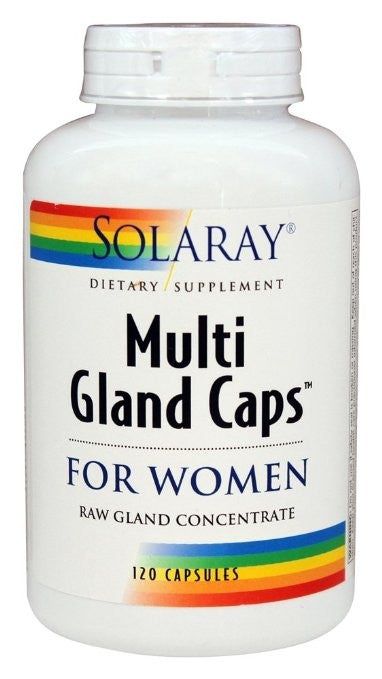 Solaray Multi Gland Caps Supplement for Women, 120 Count