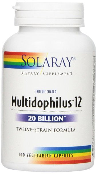 Solaray Multidophilus 12 20 Bil Supplement, 100 Count