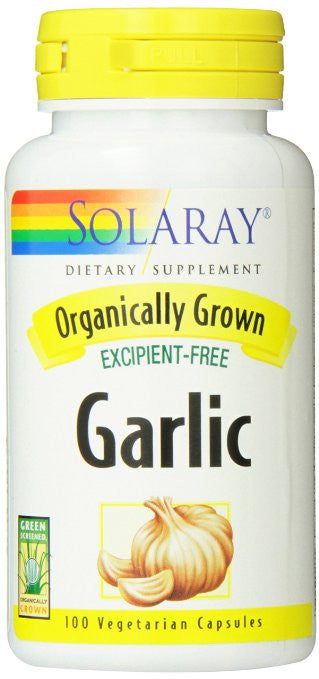 Solaray Organic Garlic Supplement, 600 mg, 100 Count
