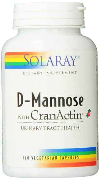 Solaray Solaray D-Mannose with Cranactin, 1000mg, 120 Count