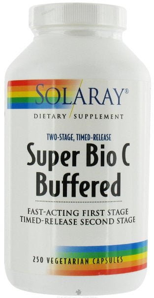 Solaray Super Bio C - Buffered 1000 mg By - 250 Vegetable Caps Vitamin C