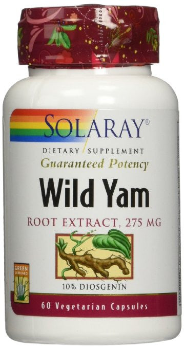 Solaray Wild Yam Root Extract 275mg, 60 Count