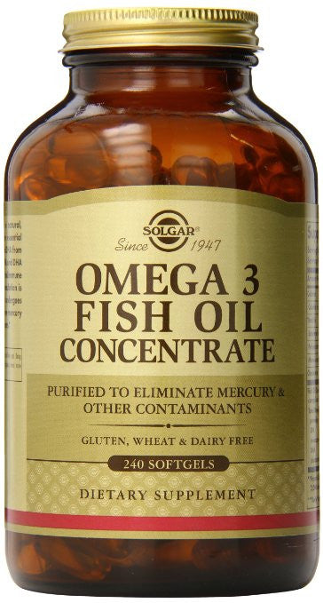 Solgar Omega-3 Fish Oil Concentrate Supplement, 240 Count