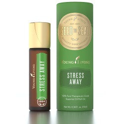 Young Living Essential Oils Stress Away 10 ML Roll On 100% Therapeutic Grade Essential Oil Supplement