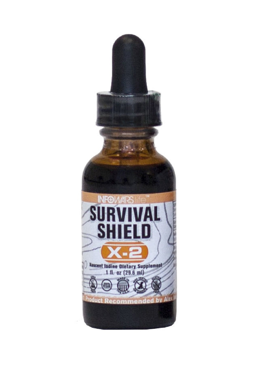 Survival Shield X-2 High Quality All Natural & NON GMO Nascent Iodine non toxic