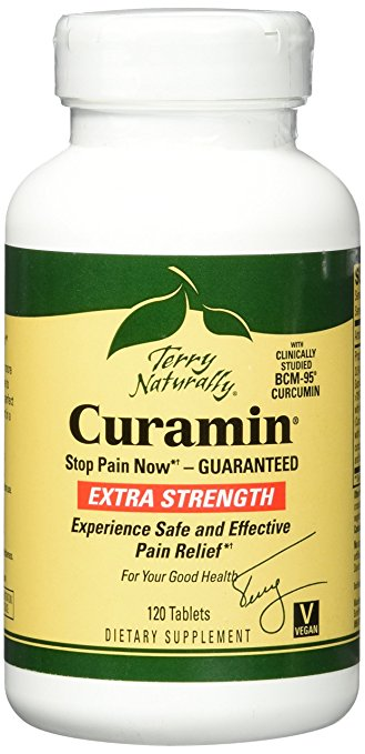 Terry Naturally Vitamins Curamin Extra Strength in 120 tablets Safe & Effective Pain Relief
