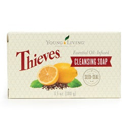 Young Living Essential Oils Thieves Essential Oil Blend Cleansing Bar Soap 3.5 OZ