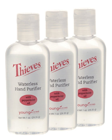 Young Living Thieves Waterless Hand Purifier 3 Pack All Natural