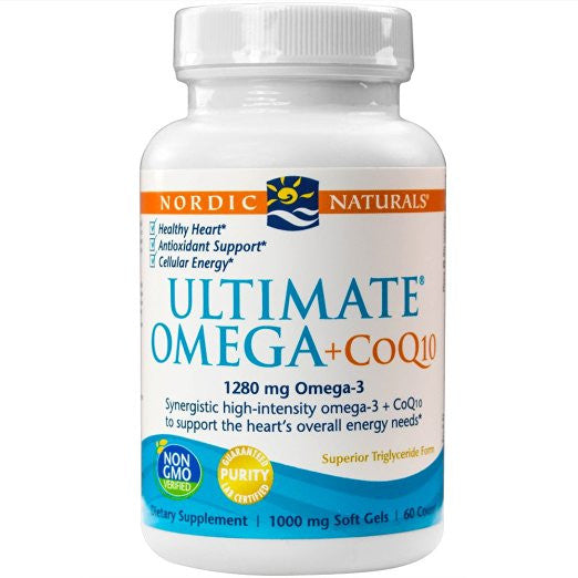 Ultimate Omega +CoQ10, Support for the Heart's Overall Energy Needs, 60 Count
