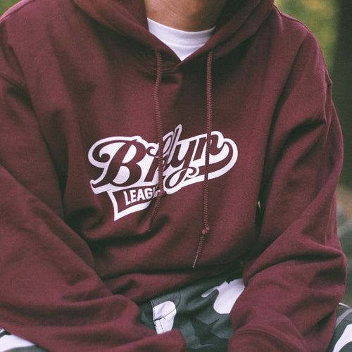 Baseball Hoodie - Maroon - BKLYN LEAGUE