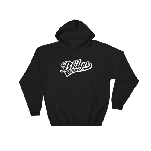 Baseball Hoodie - Black - BKLYN LEAGUE