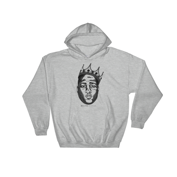 "Crowned King ""Biggie"" Hoodie - Heather Grey"
