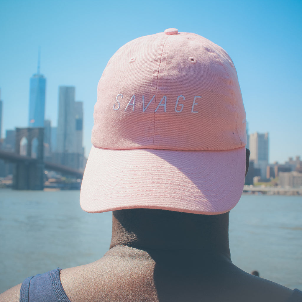 Savage Dad Hat - Powder Pink