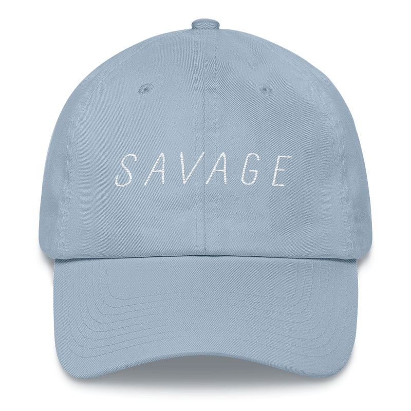 Savage Dad Hat - Baby Blue - BKLYN LEAGUE