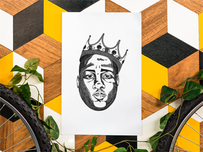 "Crowned King ""Biggie"" Print - BKLYN LEAGUE"