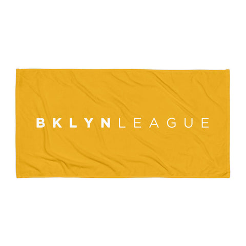 BKLYN LEAGUE Beach Towel - Red