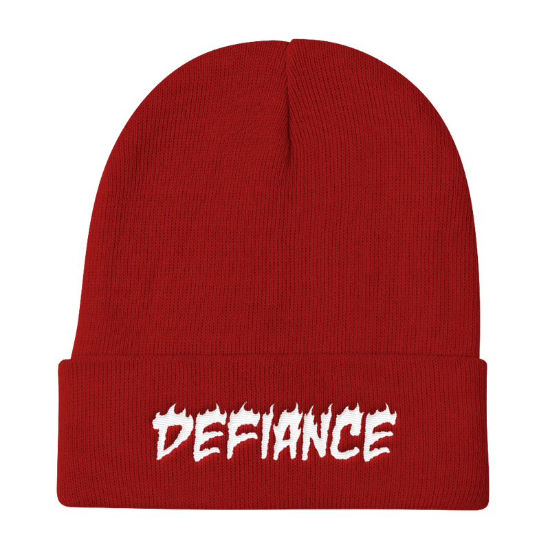 Defiance Beanie - Red & White - BKLYN LEAGUE