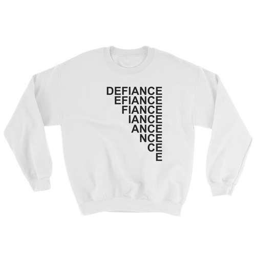 Defiance Stairs Sweatshirt - White - BKLYN LEAGUE