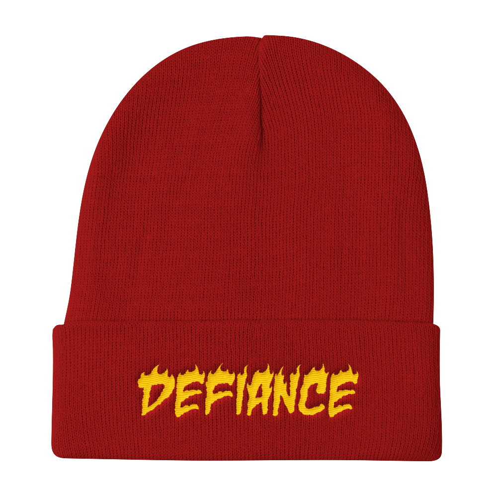 Defiance Beanie - Red & Gold
