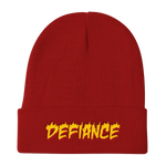 Defiance Beanie - Red & Gold - BKLYN LEAGUE