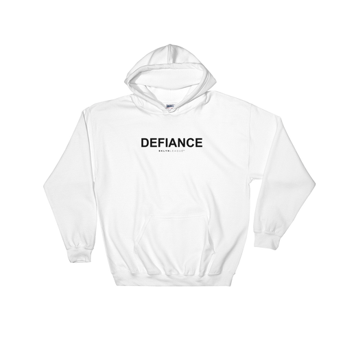 Defiance Hoodie - White - BKLYN LEAGUE