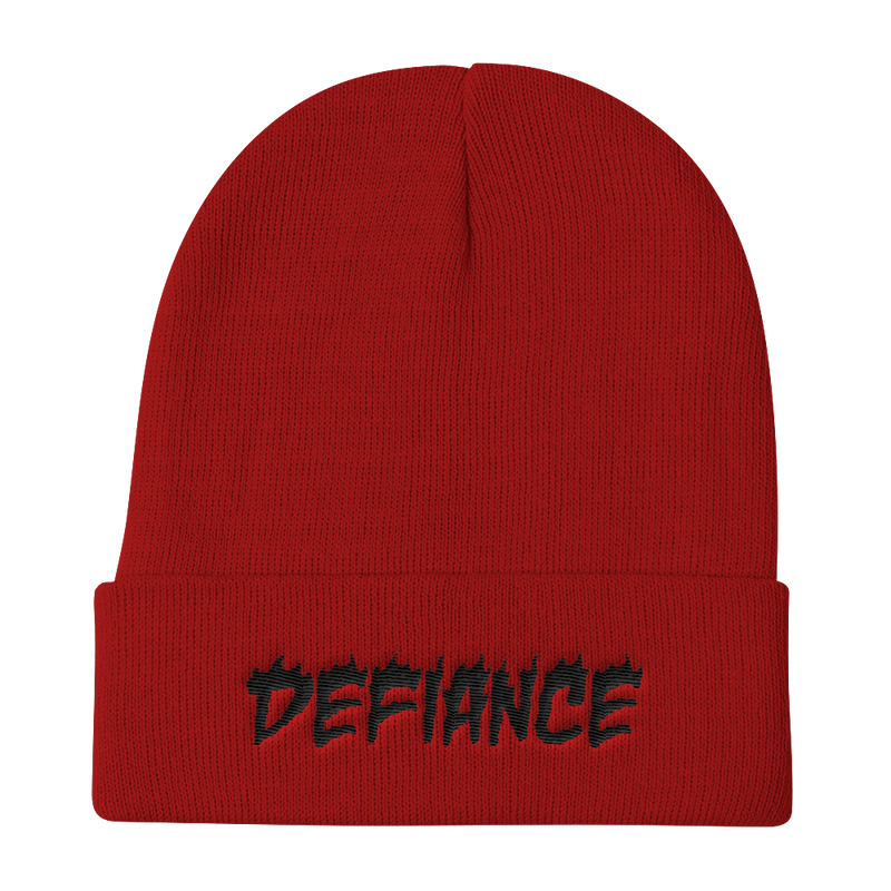Defiance Beanie - Red & Black - BKLYN LEAGUE