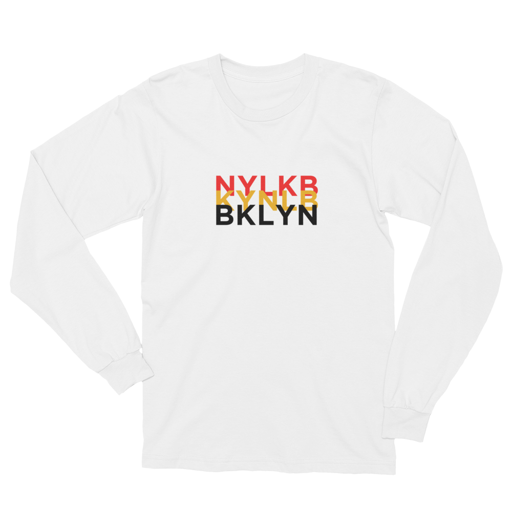 Tri-BKLYN Long Sleeve Tee (White)