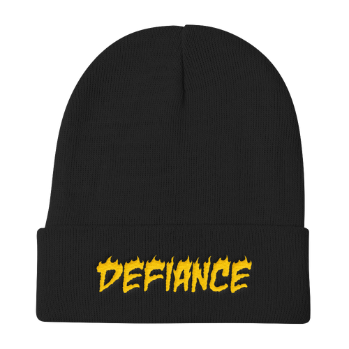 Defiance Beanie - Black & Gold - BKLYN LEAGUE