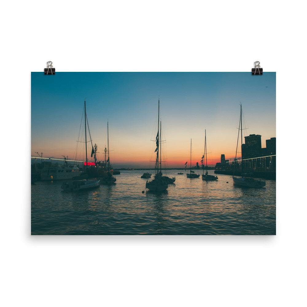 Brooklyn Bridge Park Marina Poster