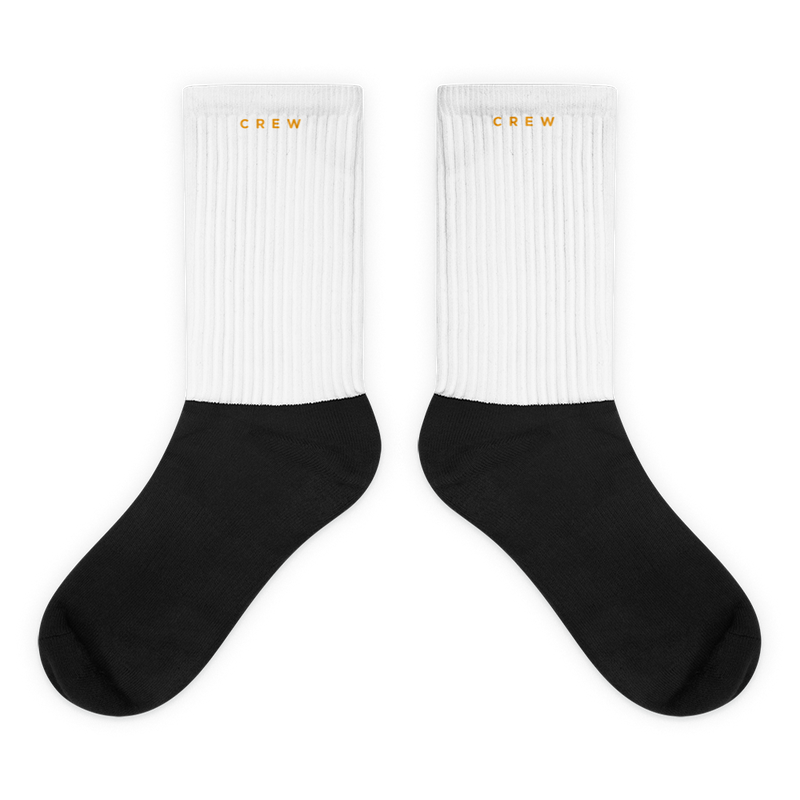 Crew Socks - White and Gold - BKLYN LEAGUE