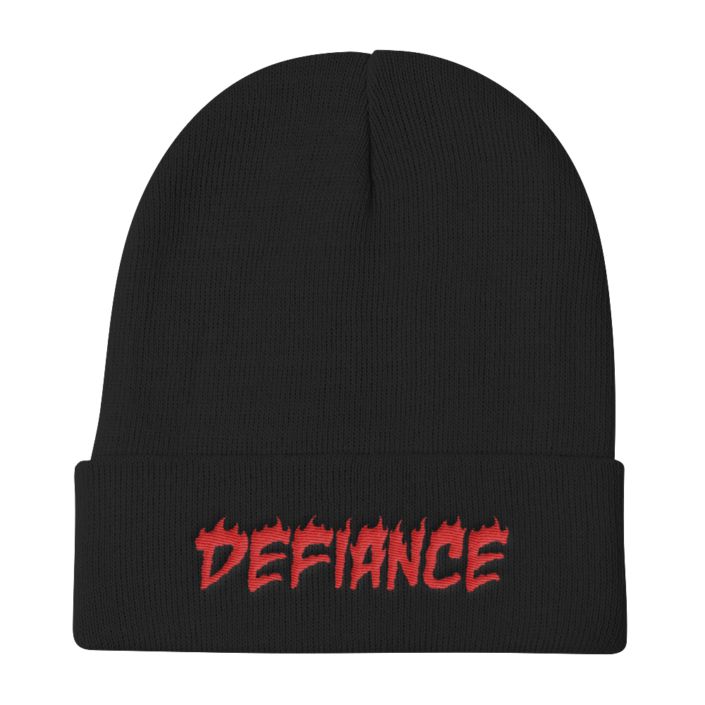 Defiance Beanie - Black & Red