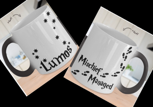 LUMOS & MISCHIEF MANAGED Coffee Mug - Double Sided Color Changing