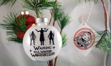 White Walker Night King Christmas Ornament for fans of Game of Thrones