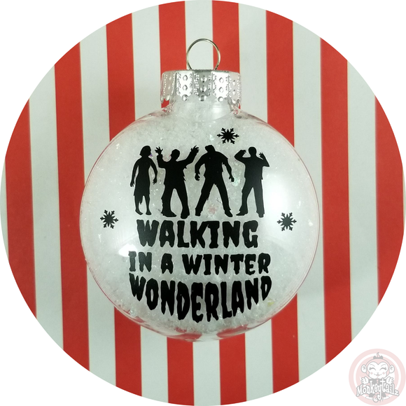 Zombie Christmas Ornament ~ Walking Dead in a Winter Wonderland