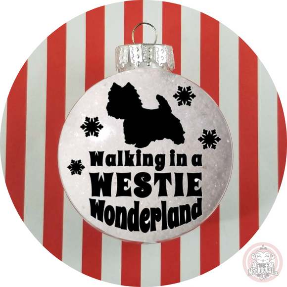 WESTIE Christmas Ornament ~ West Highland Terrier Winter Wonderland Tree Decoration