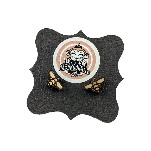 Honey Bee Tiny Stud Earrings