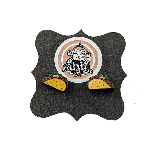 Taco Tiny Stud Earrings