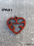 Laser Cut HEART Pendant Necklace