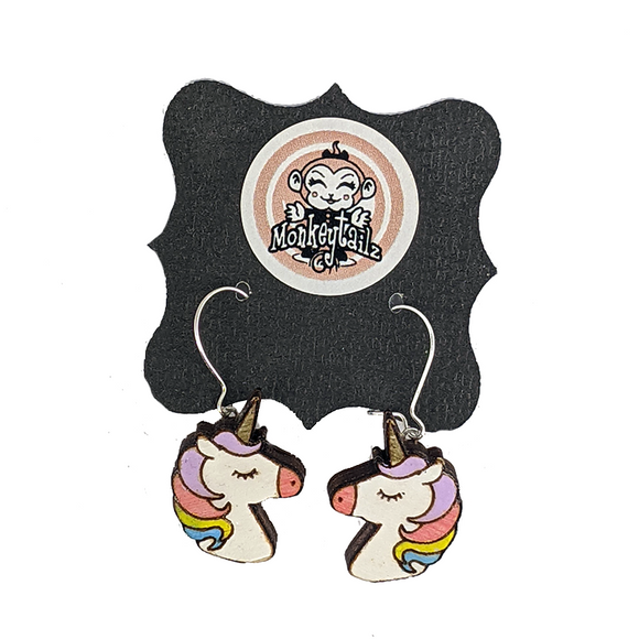 Rainbow Unicorn Dangle Earrings