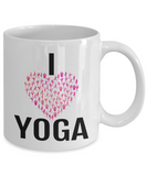 I Heart Yoga Coffee Mug for Yoga Lover