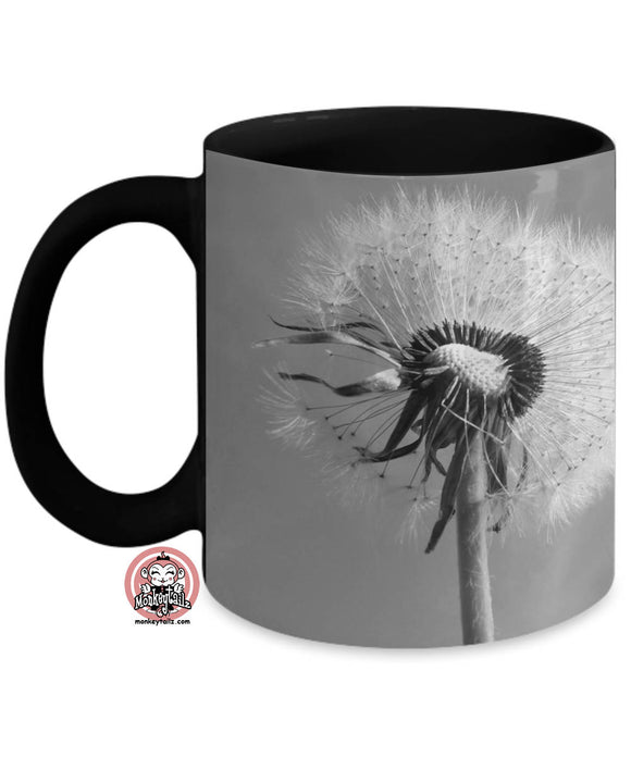 Dandelion Make a WISH Coffee Mug by Monkeytailz