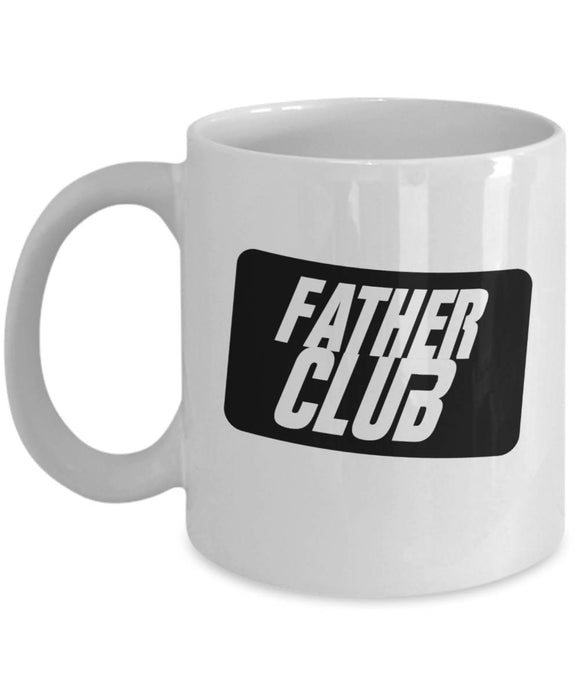 FATHER CLUB Coffee Mug for Dad Father's Day 2017