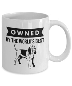 OWNED by Bloodhound Coffee Mug for Hound Dog Lovers