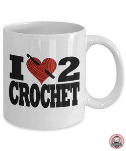CROCHET Gift I LOVE to CROCHET Coffee Mug for Crocheters by Monkeytailz