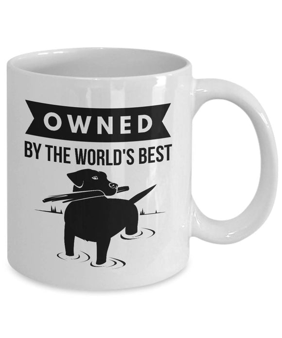 OWNED by LABRADOR RETRIEVER Coffee Mug for Dog Lovers Lab Dog