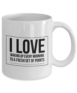 Coffee Mug for Weight Watchers I Love Waking Up to Fresh Points