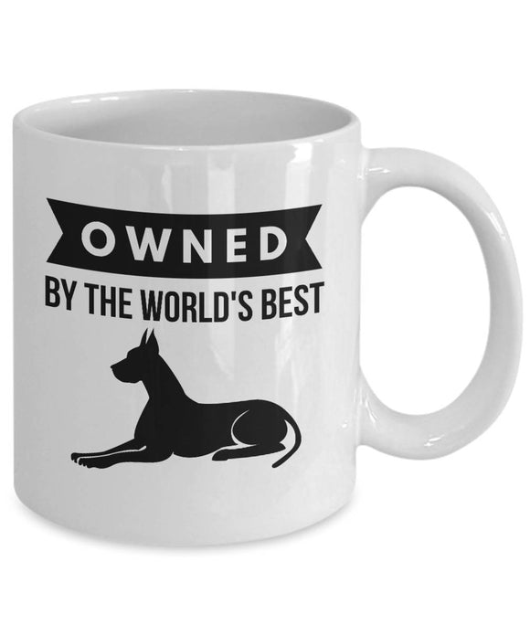 OWNED by Great Dane Coffee Mug for Dog Lovers