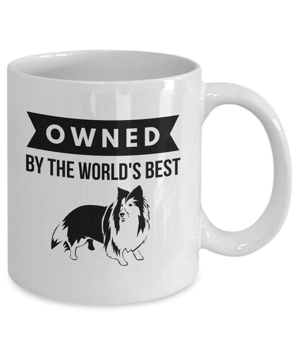 OWNED by Sheltie Coffee Mug for Shetland Sheepdog Lovers