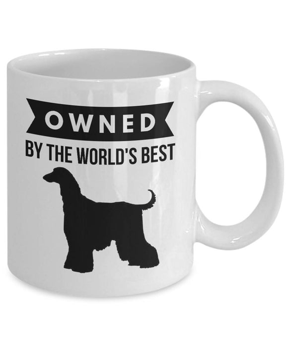 OWNED by AFGHAN HOUND Coffee Mug for Dog Lovers